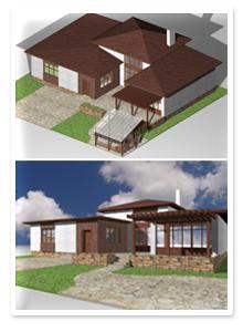 Дизайн-проект одноэтажного коттеджа
