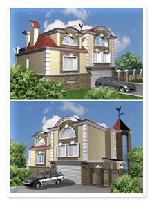 Эскизный дизайн-проект загородного дома