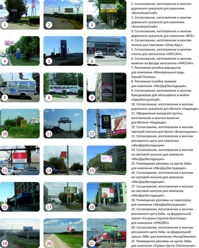 Согласование наружной рекламы в Волгограде, Волжском и Волгоградской области.