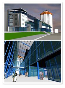 Визуализация дизайн-проекта торгового центра
