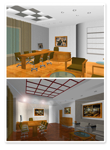 Проект интерьера кабинета директора