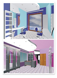 Проект интерьера салона