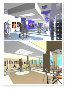 Проект интерьера тренажерного зала