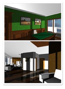 Форэскизы интерьера квартиры Сочи