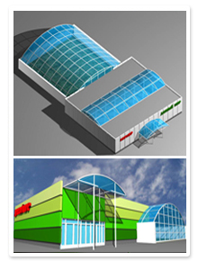 Форэскизы дизайна магазина с теплицей