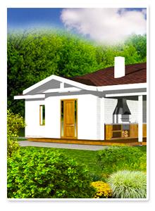 Визуализация загородного одноэтажного дома