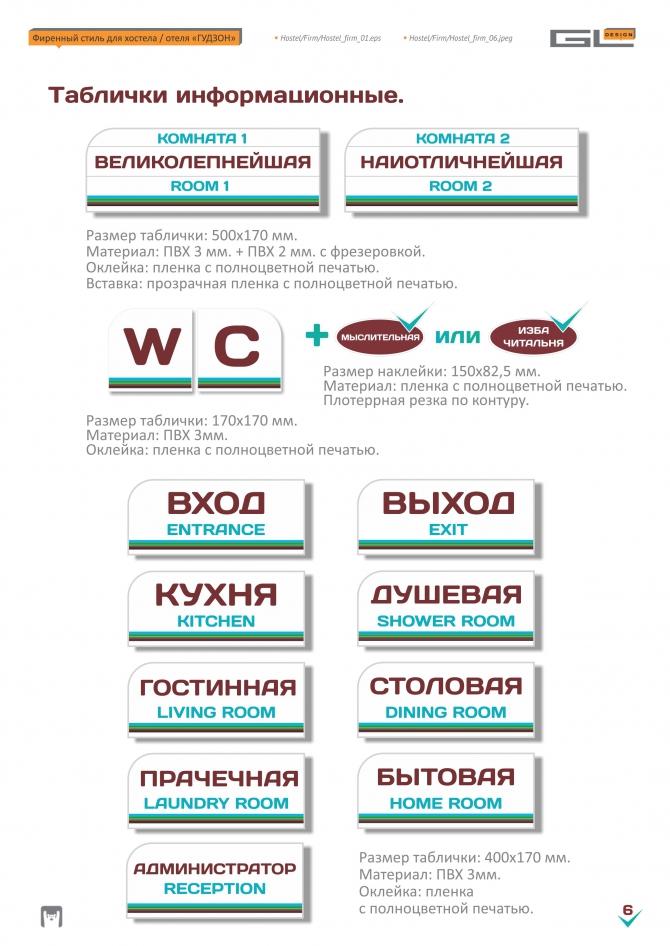 """Гайдлайн и фирменный стиль хостел & отель """"ГУДЗОН"""""""